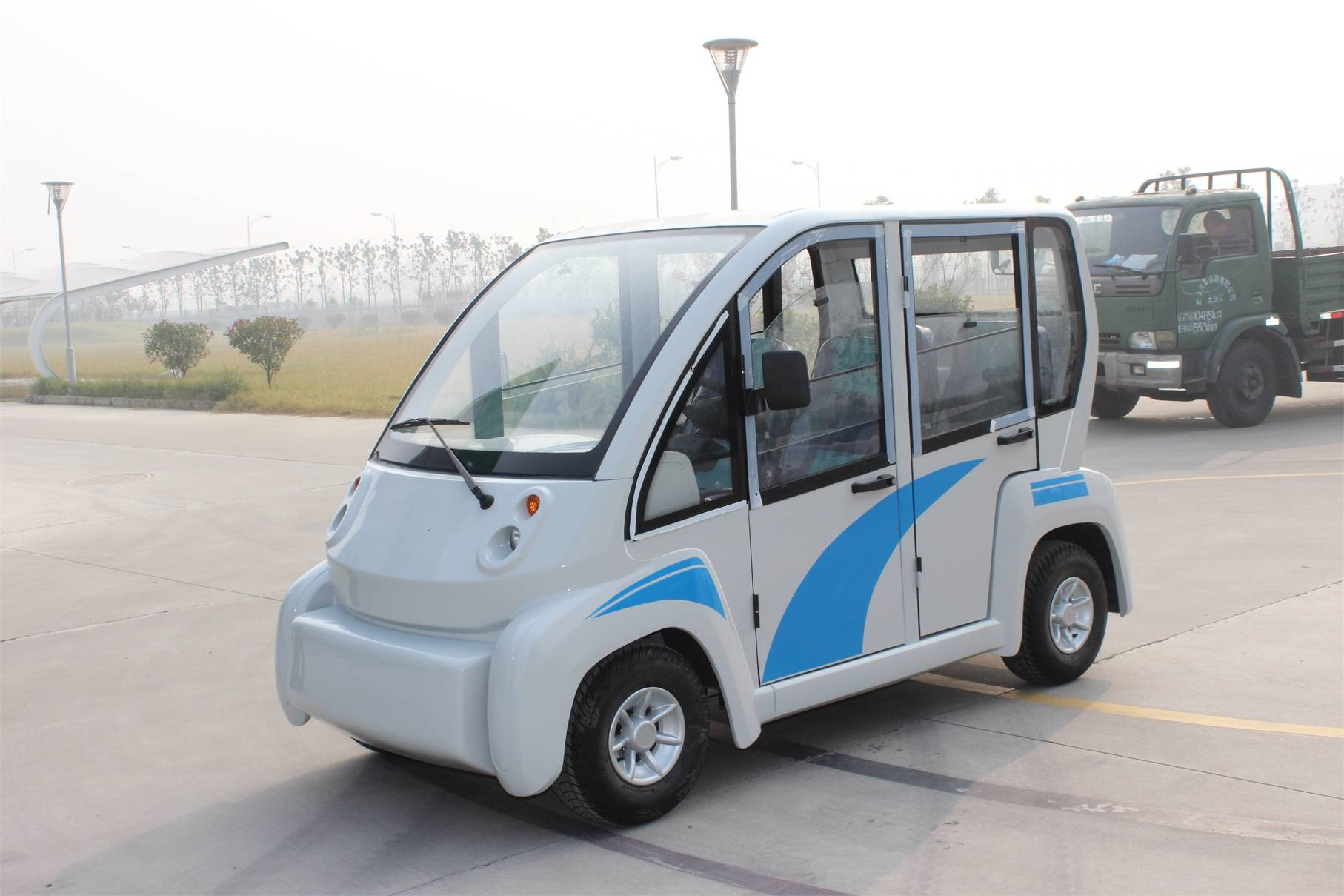 Falcon brand premium 6 seat electric car golf cart with hard door