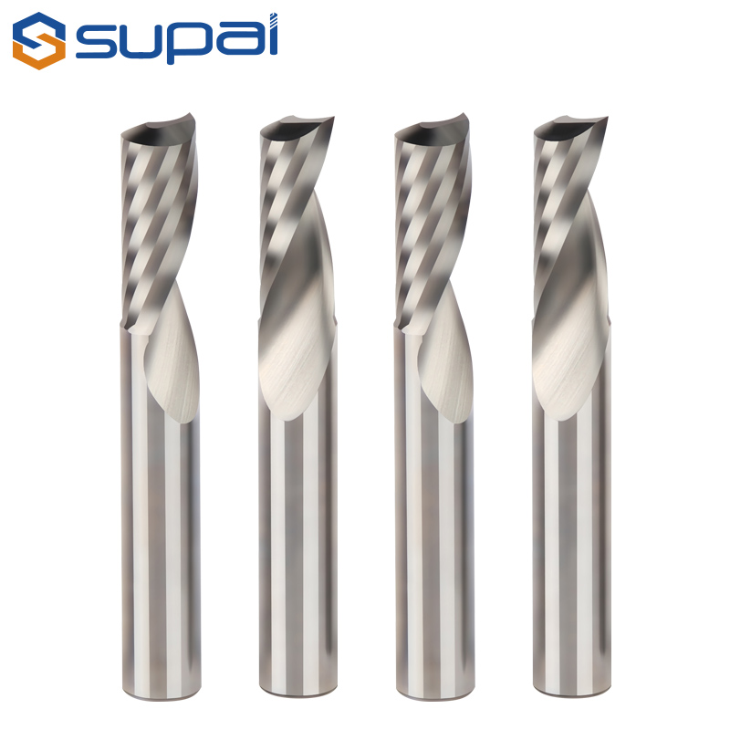 solid carbide single flutes end mill for wood arcylic plastic