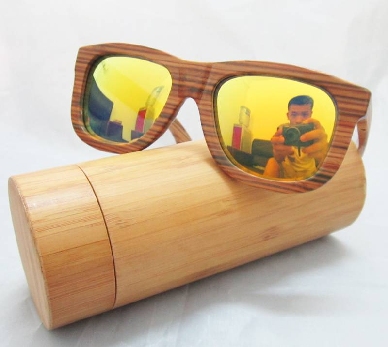 Fashionable Wooden Glasses Frame Aviation Glasses Sunglasses 2015
