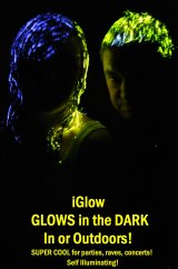 Distributors wanted 2011  iGlow  VIP Glow in the Dark Hairgel from USA . Use in and Outdoors at rave