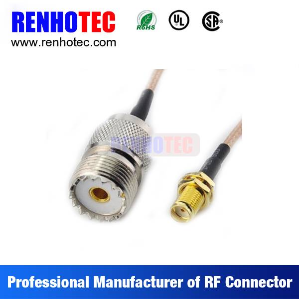 Made in China UHF Jack to SMA Jack Electrical Coaxial Wire Connectors Custom Cable Assembly