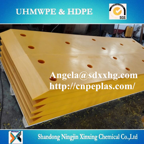 UV resisting UHMWPE marine fender panel /facing pad