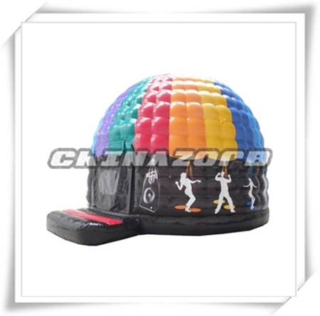 New popular airtight inflatable dome disco dome good quality