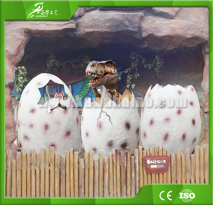 KAWAH Customized Artificial high simulation dinosaur eggs and babies