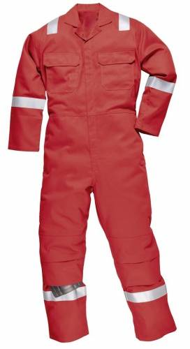 fire retardant coverall with knee pad