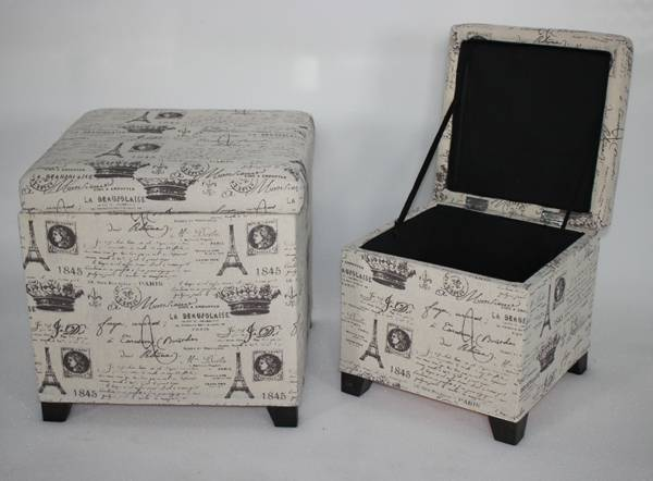 Fabric storage box and storage stool , storage ottoman