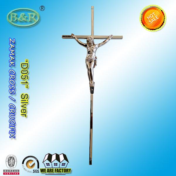 D051 zamak crucifix coffin decoration metal zinc croix cercueils