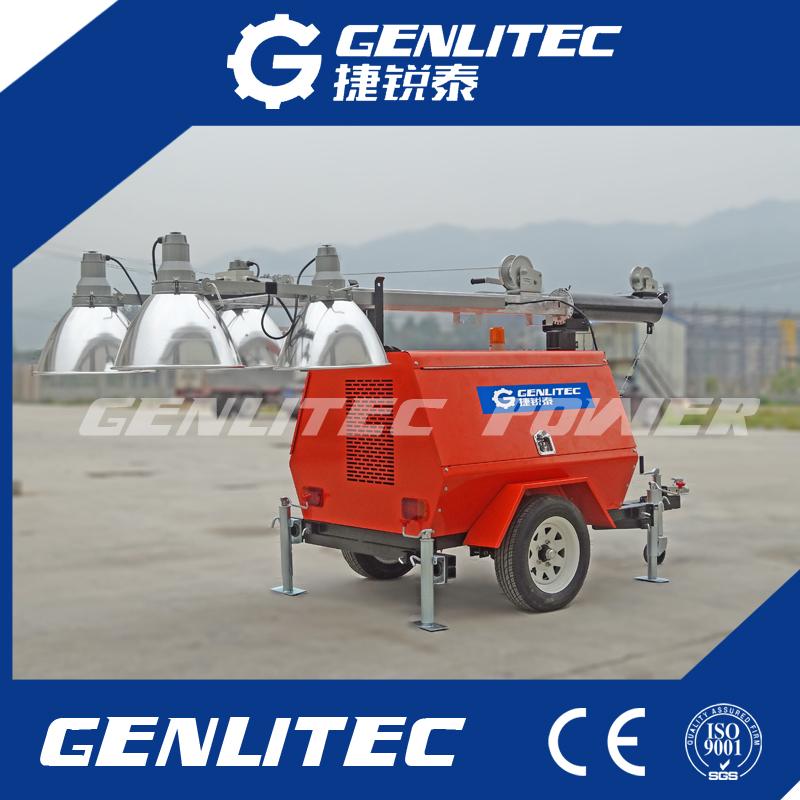 Trailer Mounted Kubota Diesel Generator Mobile Light Tower 6kw/8kw/10kw/12kw