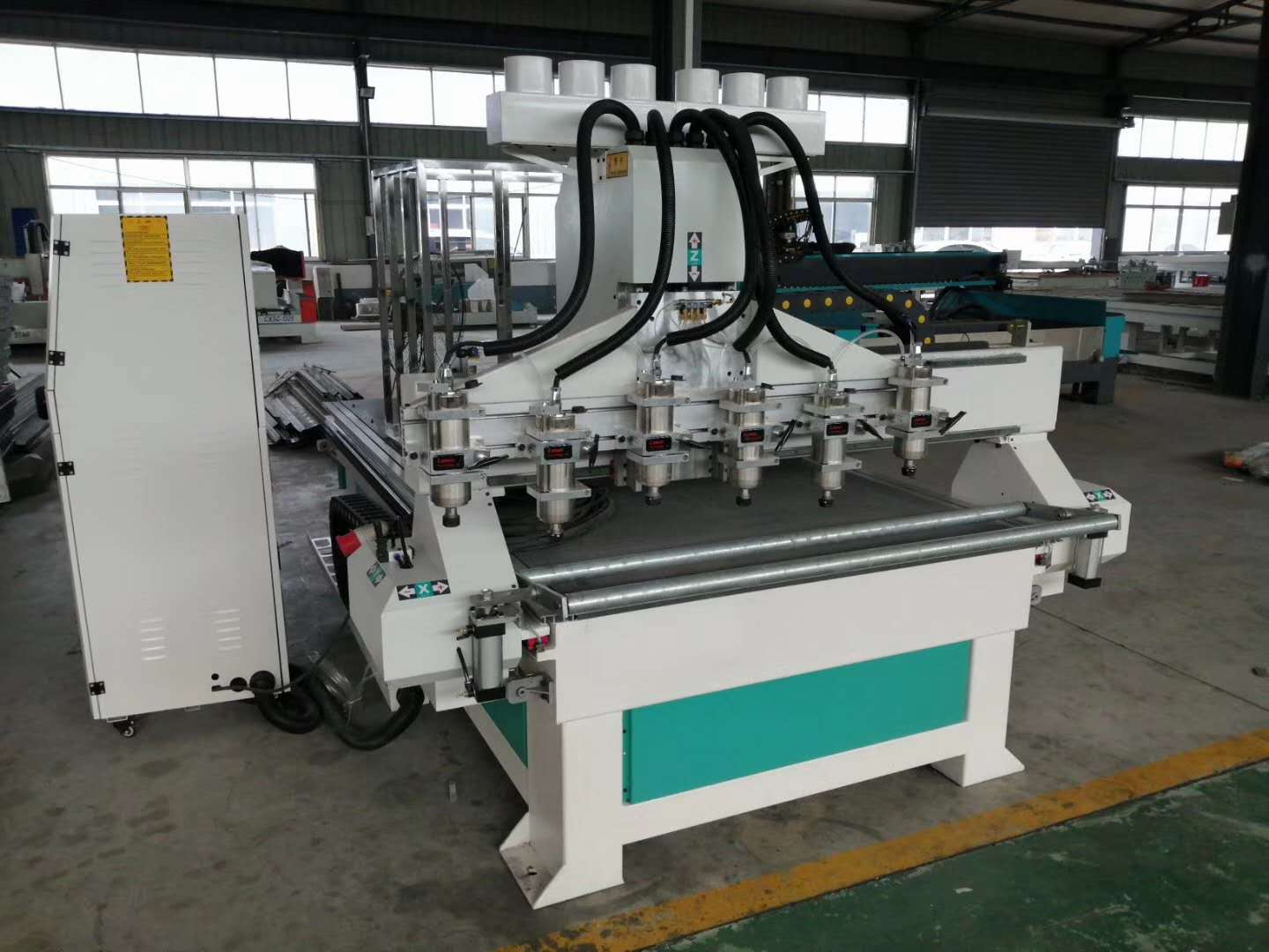 multi spindles cnc wood router machine with 2,2kw spindles