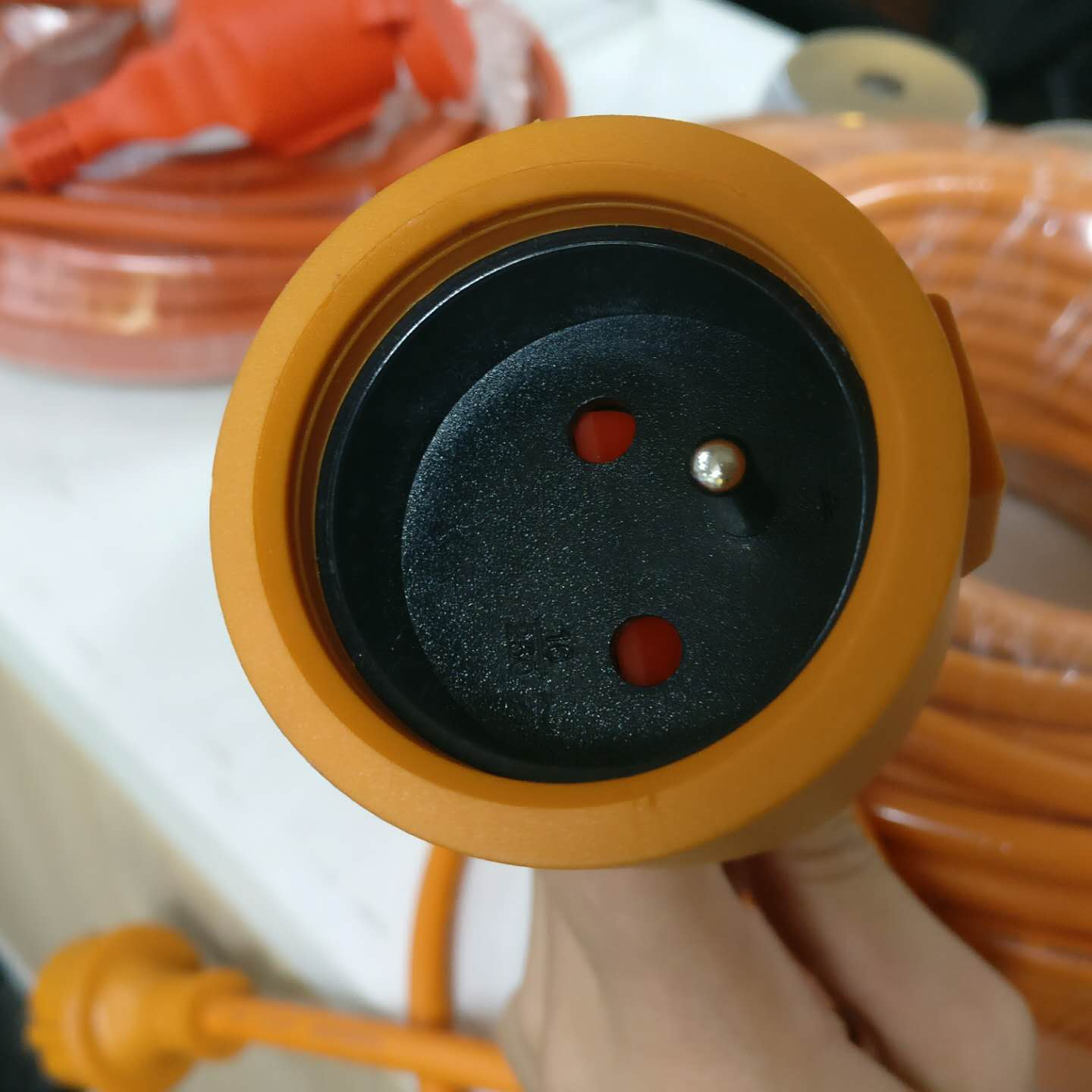 Rubber cable France Plug electrical wire IP44 Extension cord