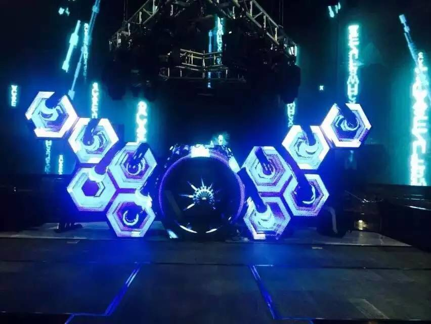 2015 DGX Latest Bee Nest LED DJ Booth, Customized Designs Welcomed