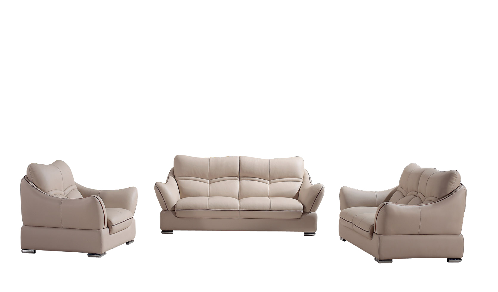 Fashionable Genuine Modern Leather Sofa Made in China