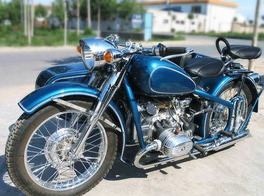 750CC 32HP Fashion Shinny Blue Motorcycle with Sidecar