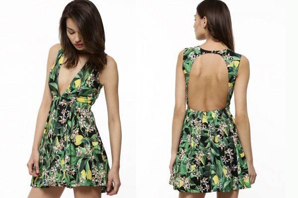 Hot ladies floral pattern midi beach dress