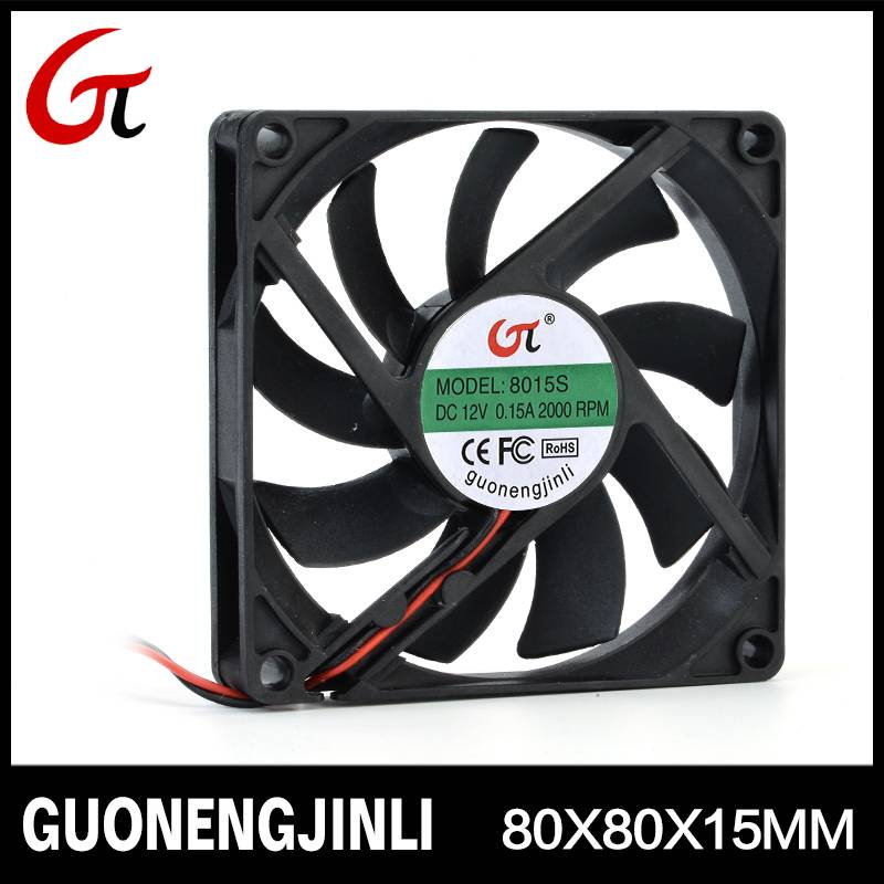 Manufacture selling 12V 8015 dc cooling fan with low noise for Led lights