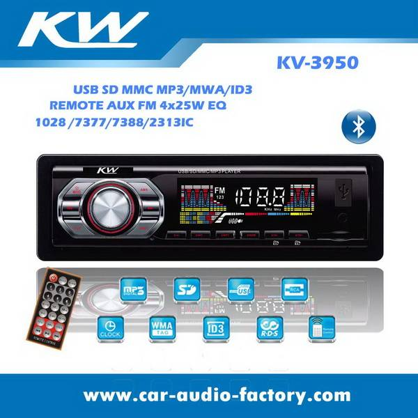 KV3950 Car MP3 with Bluetooth Function