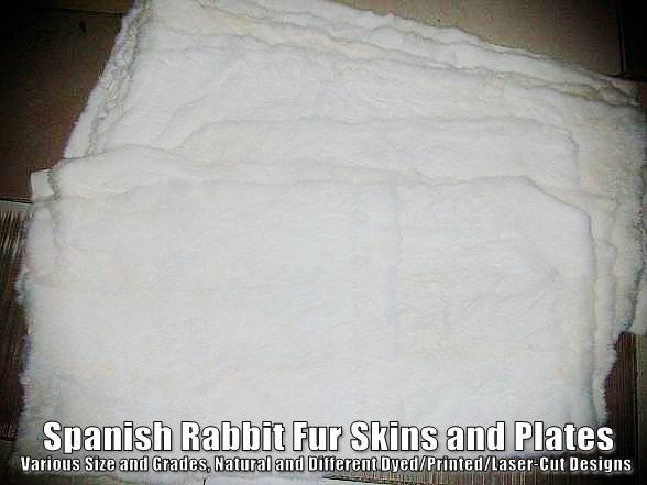 Spanish Rabbit Fur Skins and Plates