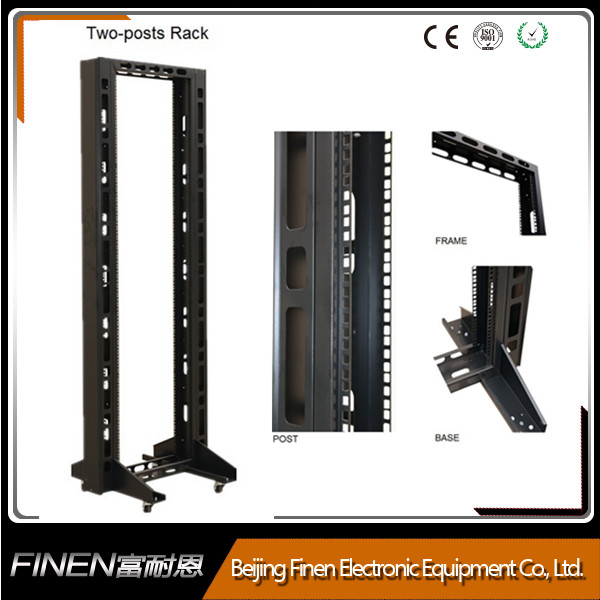 FINEN 27u quick assembly open rack frame 2 post with good quality