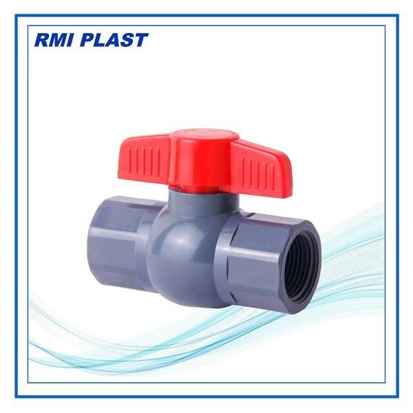 PVC compact ball valve, DIN, ANSI, JIS, CNS, BSPT, NPT