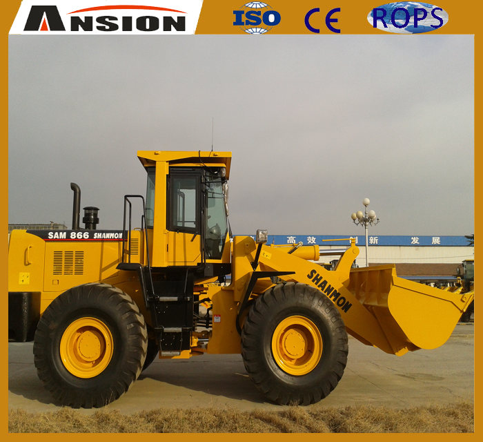 Ansion SAM866 Font end wheel loader with attachment