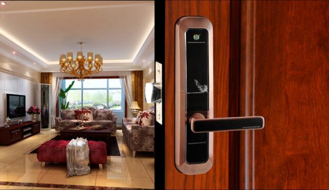 High grade rfid door lock anti-theft fingerprint password sliding door lock