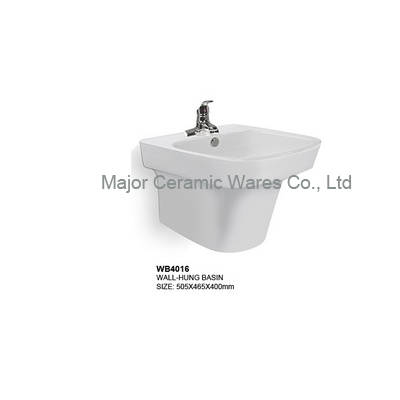 WB4016 wall hung basin, bathroom basin