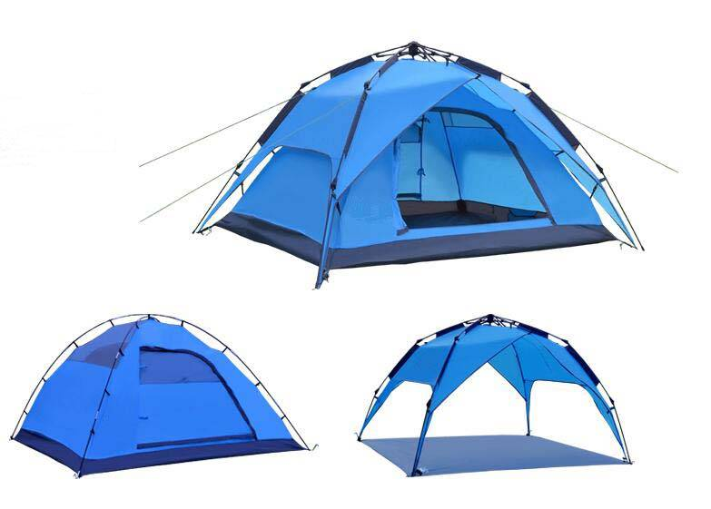 Automatic outdoor tent camping tent for family double layer 3-4person portable