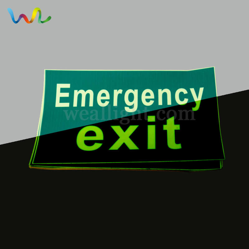 Self Luminous Exit Signs, Photoluminescent Exit Signs, Printable Exit Sign