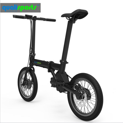 China Best Moped Scooter 36V 250W Hub Motor Electric Bike 16 20 inch Small Pocket electrical Bicycle