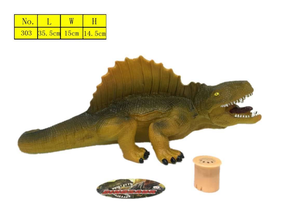 High simulation vinyl dinosaur model toys with sound environmental protection material for kids low
