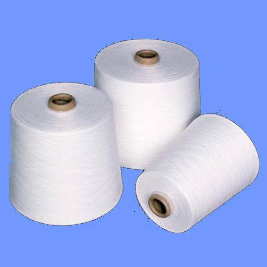 polyester spun yarn close virgin