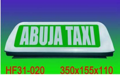 HF31-020 taxi light box with magnet