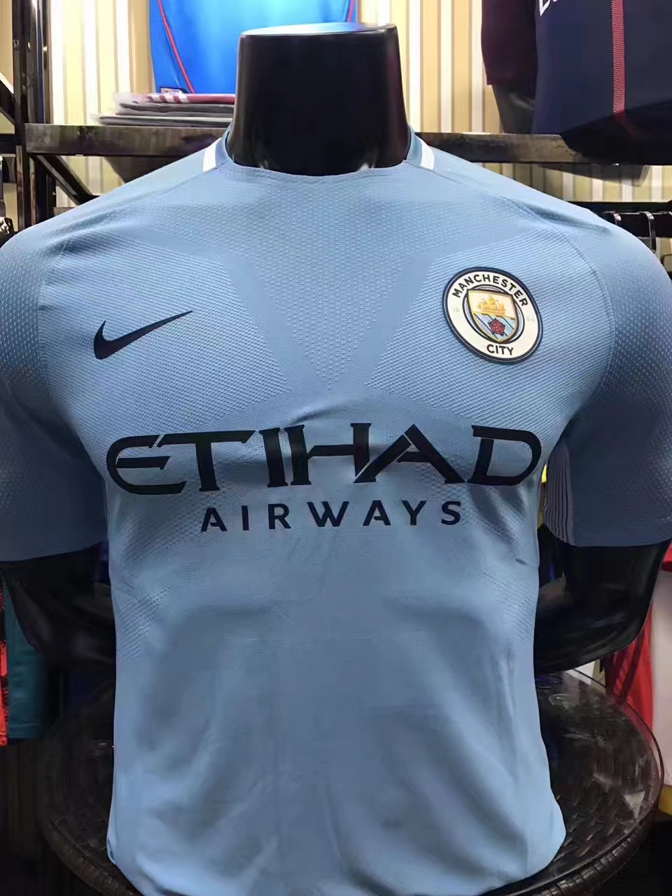 2017-2018 Manchester City Home team Player Jersey(slim fit)