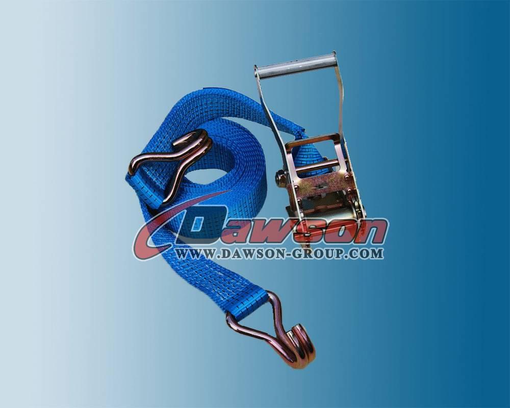 European Standard (EN12195-2) 2 Inch 5000kg X 4m Ratchet Strap/Load Ratchet Straps