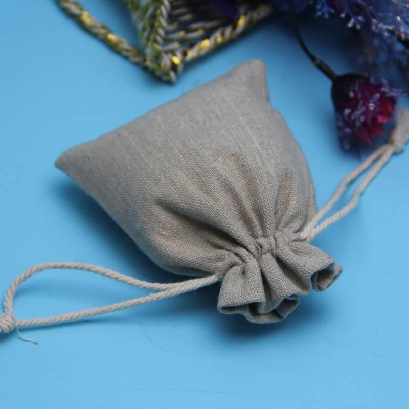 plain drawstring jute bag for coffee packing