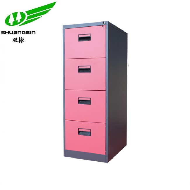 Office furniture colorful 4 drawer metal filing cabinet