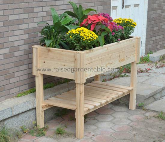 Solid Wood Raised Garden Tables