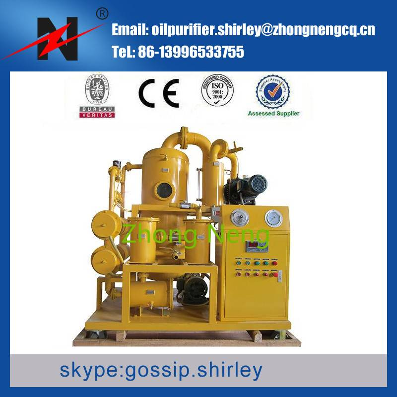 Series ZYD Highly Effective Double-Stage Vacuum Transformer Oil Purifier for 110KV Substation
