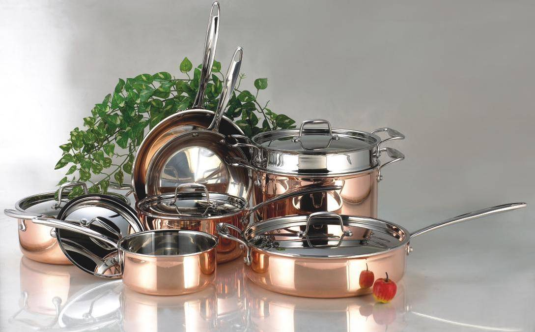 13pcs coated stainless steel cookware set