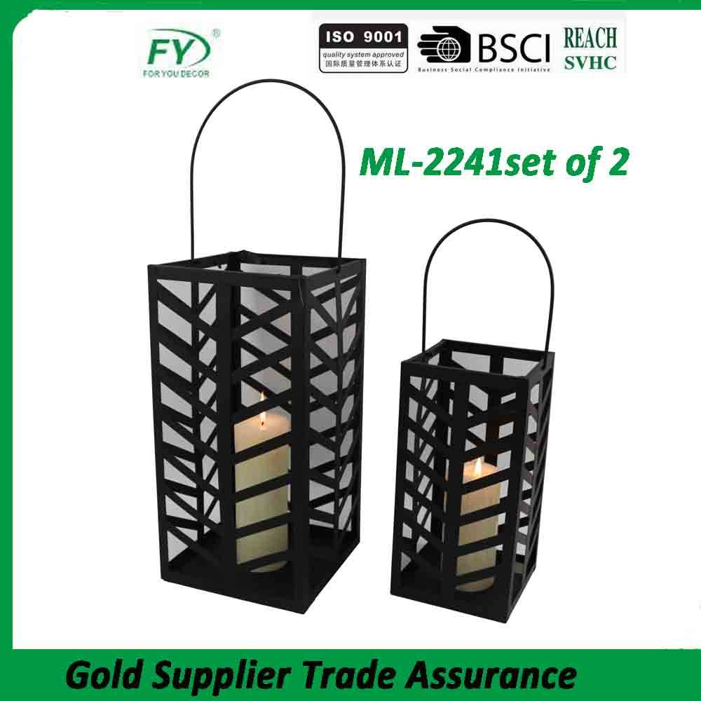 Good quality modern leaf design hanging daily use metal lantern