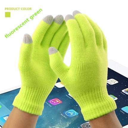 Men Women winter Warm christmas Glove Gift Colorful Winter Warm Touch Glove Cotton Capacitive Screen