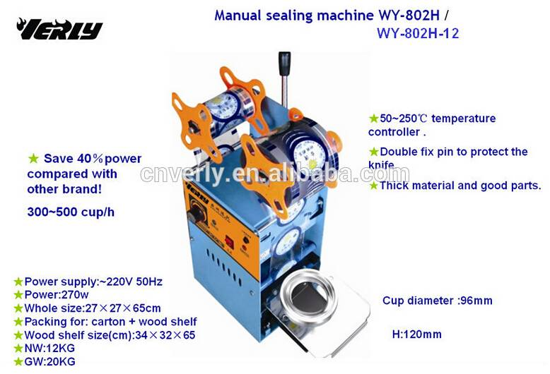 High efficiency Hot sale Counter Calculating Cup Manual Sealing Machine