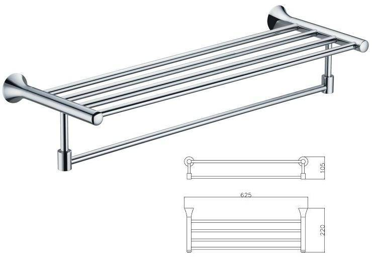 Towel Shelf (stainless steel & brass)