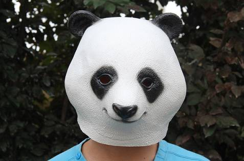 Youtumall Latex Panda Head Mask For Party Costume