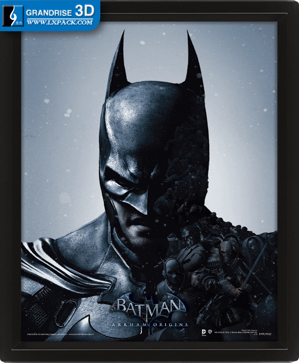Batman Arkham Origins Movie Lenticular Poster Printing 3D Effect Printing