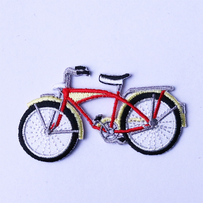 Biker full embroidery coverage fabric applique for decoration