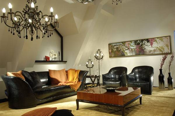 High-end designer furniture: genuine leather living room sets, sofas and coffee table, Shanghai JL&C