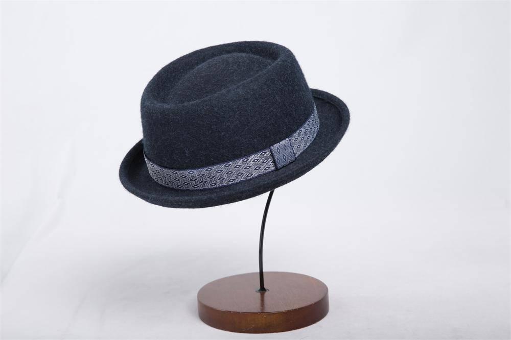 Man Fashion Wool Felt Fedora Hat (FM017033)