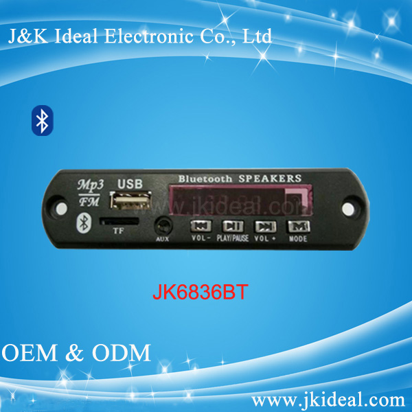 Made in China hot car usb tf card mp3 bluetooth audio fm module