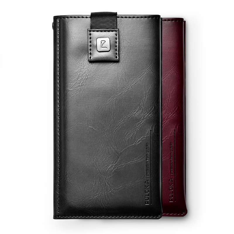 PULOKA Mobile accessories Phone Protector Leather Wallet Case Card Holder Case for Iphone